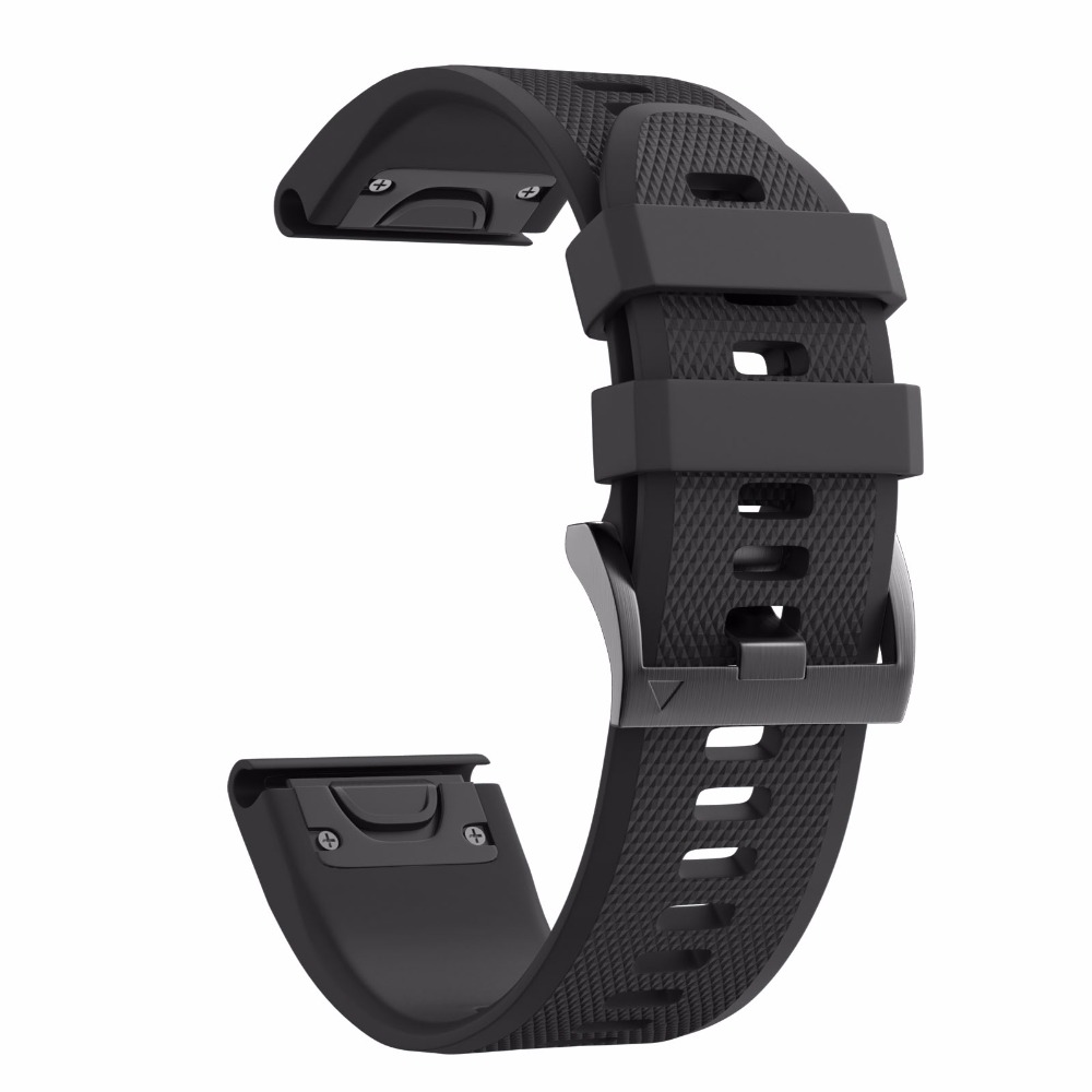 26mm Width Watchbands for Garmin Fenix 5X/3/3HR Sport Silicone Band with Easy Fit Silicone Band for Garmin Fenix Watch Band цена