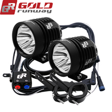 1 pair GOLDRUNWAY 30IX Motorcycle Headlights 30W 12V U3 Moto led Driving Spotlights 3mode Motorcycle headlamp spot head lights