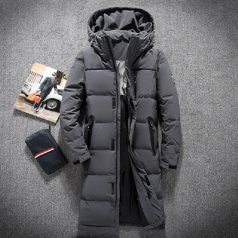 Erkek Kıyafeti'ten Şişme Ceketler'de Yeni moda marka 2019 kış dış giyim aşağı ceket erkekler rüzgar geçirmez su geçirmez ördek aşağı Parka erkek X uzun kalın sıcak tutan kaban'da  Grup 1