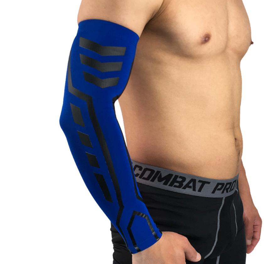 Gym Fitness Elastic Arm Sleeves Cooling UV Cover Sun protective Stretch Armbands