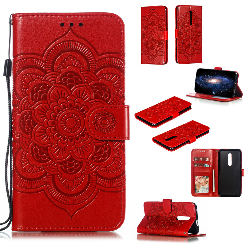 Coque 1 7pro Couples Simple Fashion Flower Leather Flip Wallet Case For font b Oneplus b