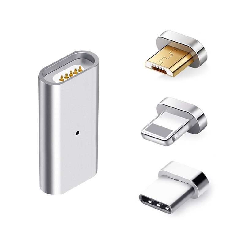 Magnetic Adapter Micro USB Magnetic Charger Converter for Magnetic Charging Date Cable for Iphone Samsung Mobile Phone Adapter