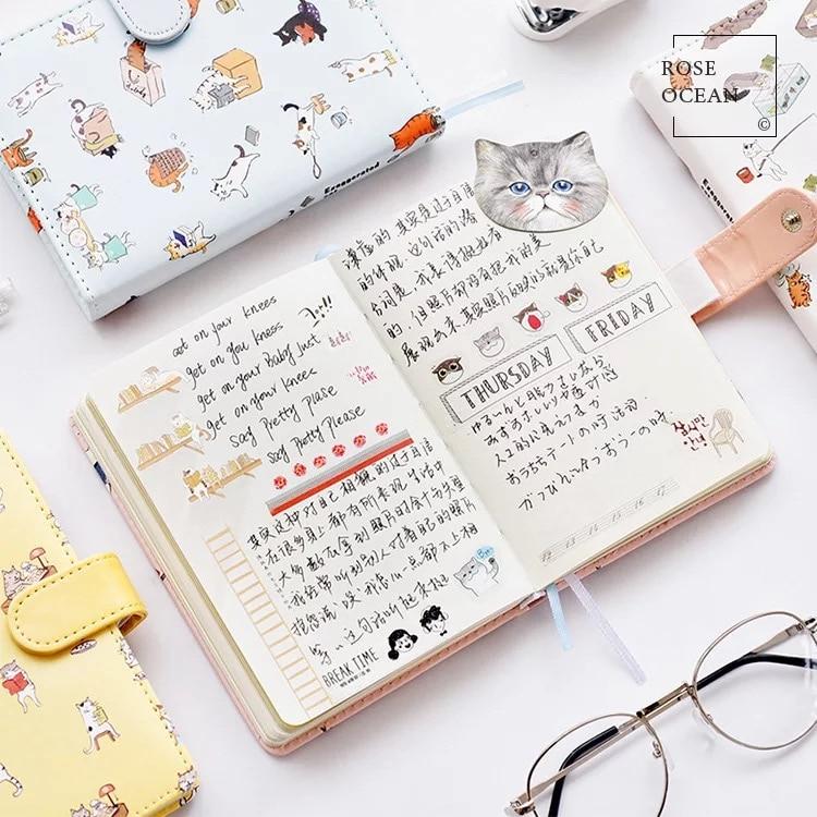 1Pcs Δερμάτινο Hardcover Notebook Χαριτωμένο - Σημειωματάρια - Φωτογραφία 3