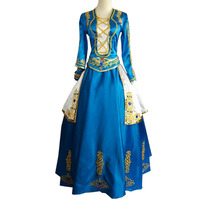 2017 LOL Ashe cosplay blue empress dress costume Custom Made Any Size