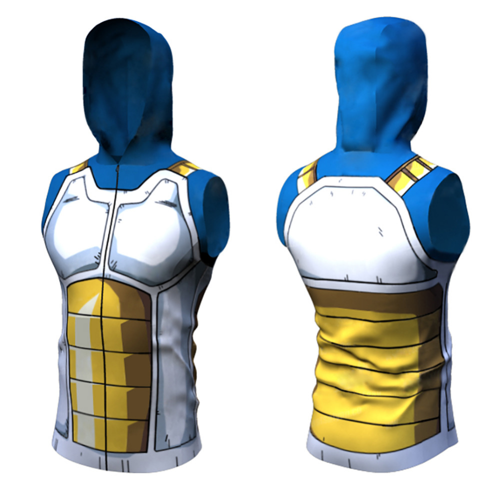 New Arrival 3D Dragon Ball Goku T Shirt Naruto Kakashi Akatsuki Vest Tank Top Hoodie Sleeveless Shirts Anime Character Costume