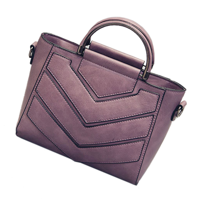 SNNY NEW Luxury Women Bags Messenger Bag Tote Shoulder Hand Bag Leather Handbag Purple