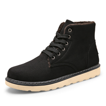 Men Winter Boots New Arrival High Top Plush Snow Boot Hot Sale Fashion Casual Sewing Contracted Warm keep Cotton Shoes