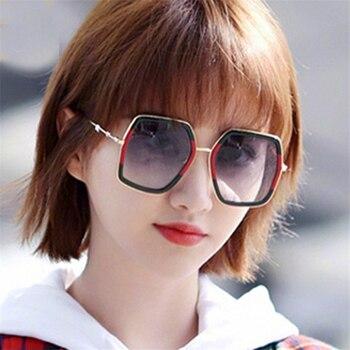 Polarized Oversize Square Sunglasses Men Women Celebrity Sun Glasses Male Driving Superstar Luxury Brand Designer Female Shades