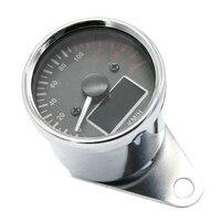 12V Motorbike Chrome LED Velocímetro Tacômetro Odômetro Medidor Multifunction