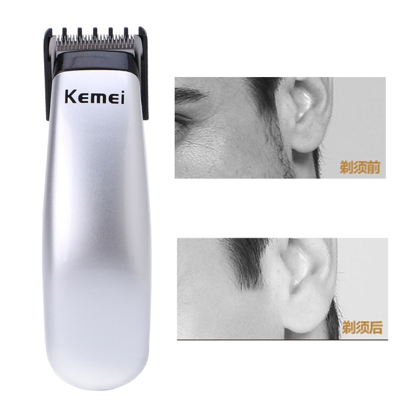 Kemei Electric Hair Clipper Mini Hair Trimmer Cutting Machine Beard Barber Razor For Men Style AS PIC as picture 3
