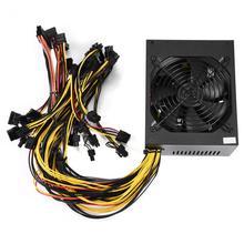 AC170-240V 2000W 93% Power Supply Support 6 GPU Big Fan Good Heat Dissipation For Operations Mining Miner Machine