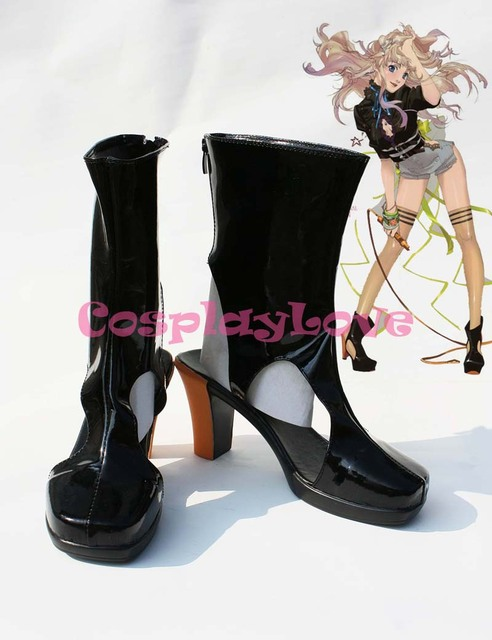 Custom-made Macross Frontier Sheryl Nome Black Cosplay Shoes Boots Hand  Made For Halloween Christmas