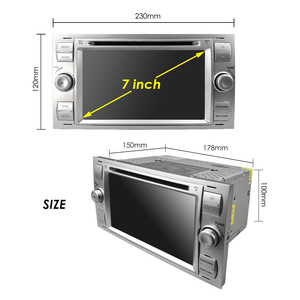 """Image 5 - 2020 Car DVD 7"""" gps For Ford Focus Transit C MAX Mondeo Fiest GPS Navigation Mirror link DAB+ Free rear camera 16GB Map card"""