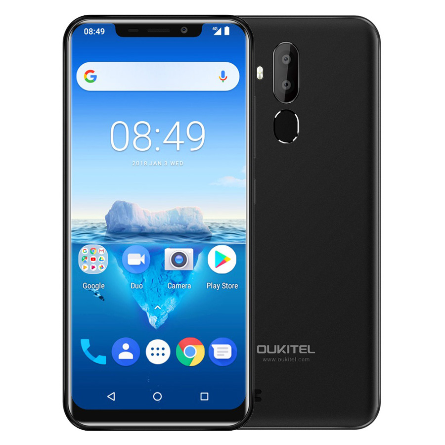"Oukitel C12 Pro 4g 6.18""19:9 Android 8.1 Face Id 3300mah Mt6739 Quad Core 2gb Ram 16gb Rom 8mp+5mp Fingerprint Mobile Phone #3"