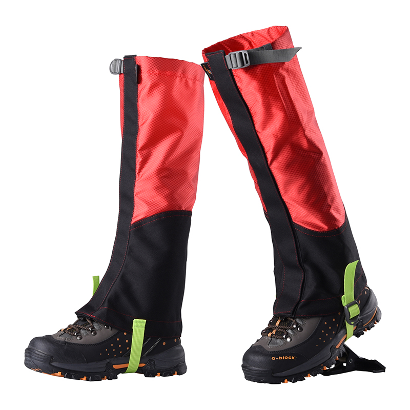 Outdoor Breathable Hiking Walking Climbing Hunting Trekking Red Black Color Snow Legging Gaiters Leg Covers Tools New