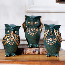 Family Wine Ark Creative Owl Living Room Set Adornment  Soft Outfit Furnishings Ornament Resins Handicraft