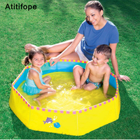 Octagonal structure Fast dry design Free gift bag No inflation Pure color children's pool Ball Pool Kids swimming Pool