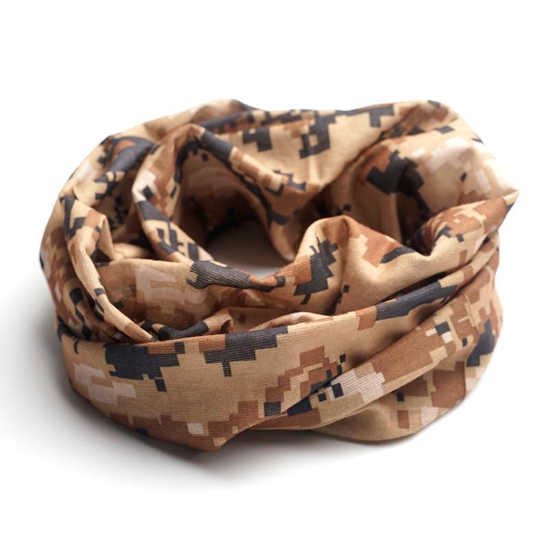 Senza Fretta Printed Men Face Mask Warmer Bandana Head Wear Snood Handkerchief Multi-Function Camo Tube Scarf Headband D01843