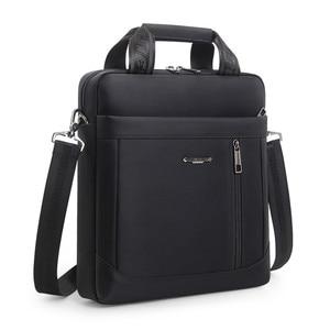 Image 2 - Mens Vertical Briefcase Men Waterproof Computer Messenger Bag Male Oxford Cloth Shoulder Bag Travel For IPAD Handbag Sac Homme
