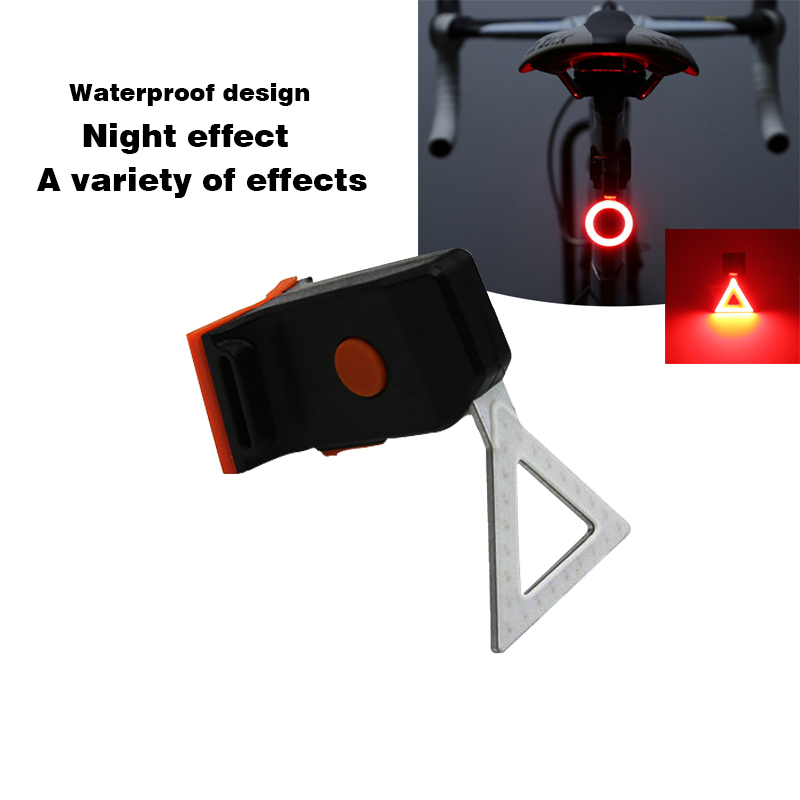 Bicycle LED Light 5 LED+2 Lasers Night Bike Tail Safety Warning Rear Lamp Cycling light