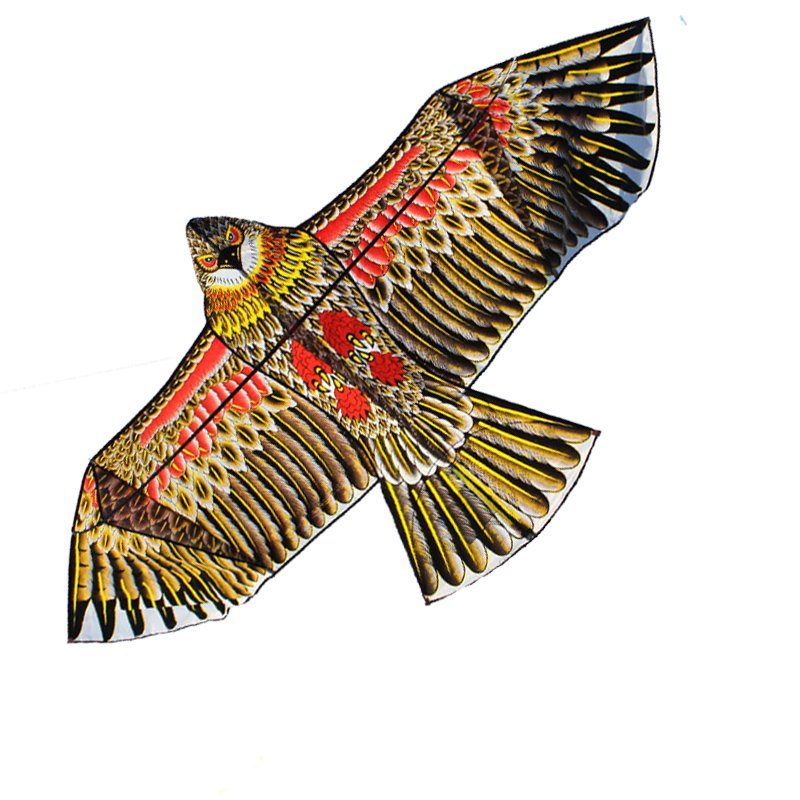 Free Shipping Outdoor Fun Sports 1.8m Golden Eagle Power Kite With Handle And Line Good Flying