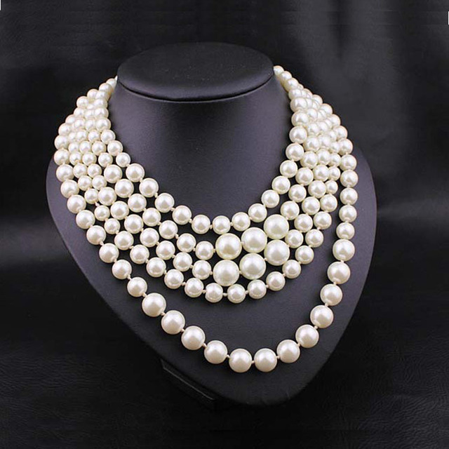 2014 Authentic New with Bag JCRShort  Pearl Twisted Hammock Necklace