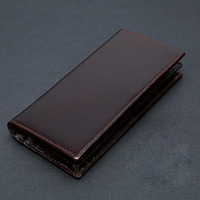 Men's Wallet Genuine Leather Man Wallet with Coin Pocket Zipper Portomonee Money Bag Cash Coin Card Long Wallets Purse for Phone