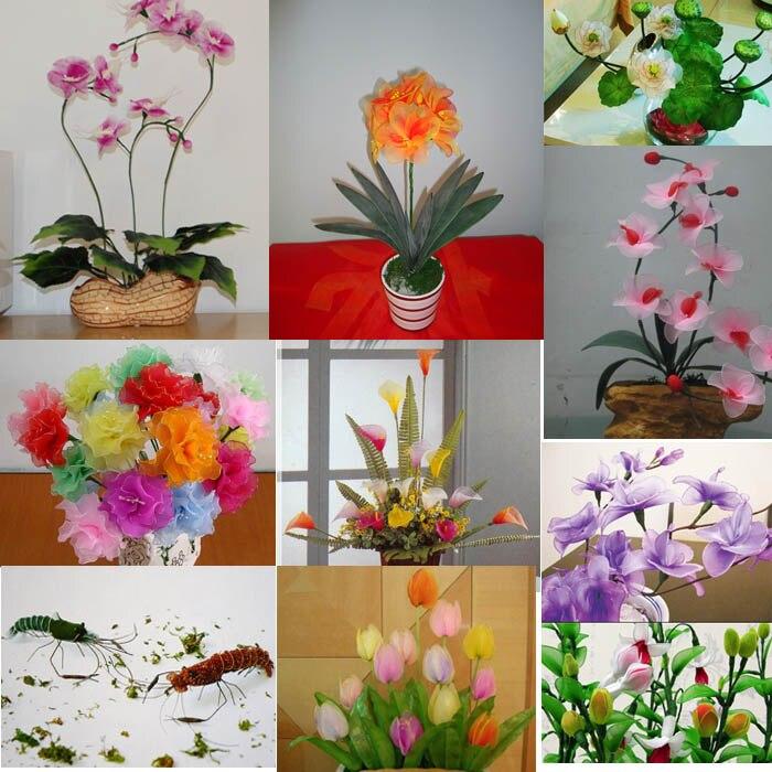 Grey Foam Brick Dry Oasis Floral Artificial Silk Flower Holder Fence ...