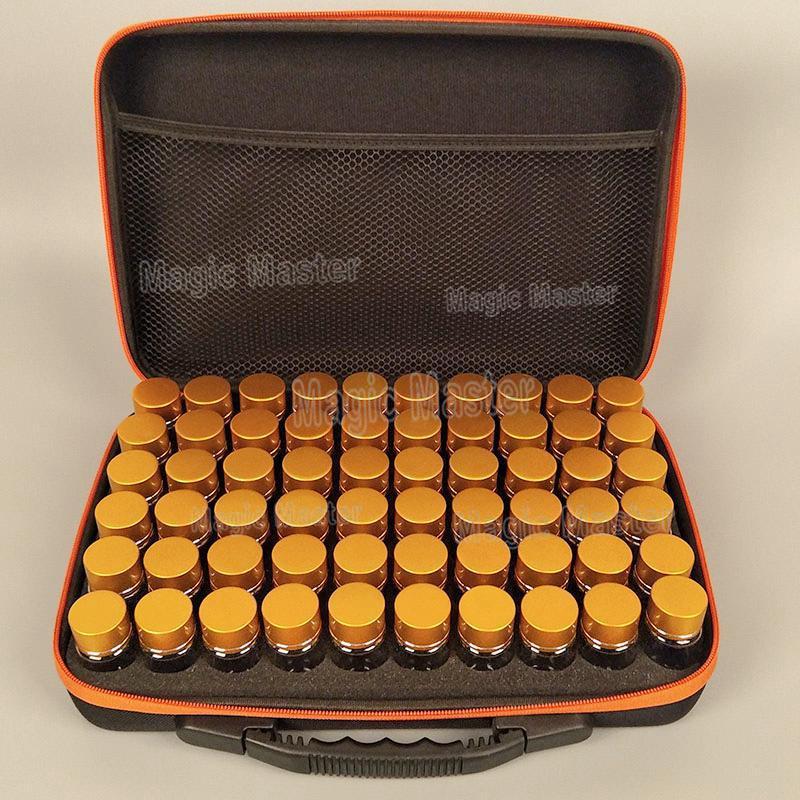 60 bouteilles d'or diamant stockage grande boîte nouveau diamant broderie diamant peinture outil perceuse stockage sac à main à fermeture éclair conception