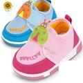 Recém-nascidos Único Fundo Macio Encantador Lace-Up Shallow Primeiro Walkers Algodão Sólida Primavera/Outono de Algodão Sapatos de Tecido Do Bebê meninas Minnie