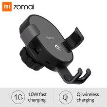 Xiaomi 70mai Qi chargeur sans fil pour iPhone XS Max X 10 w chargeur de voiture sans fil rapide support pour téléphone support pour Samsung S10