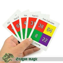 Fast Calculate Card Magic Tricks Free Shipping Magia Trick Toys Children Close up Easy Fun Magie