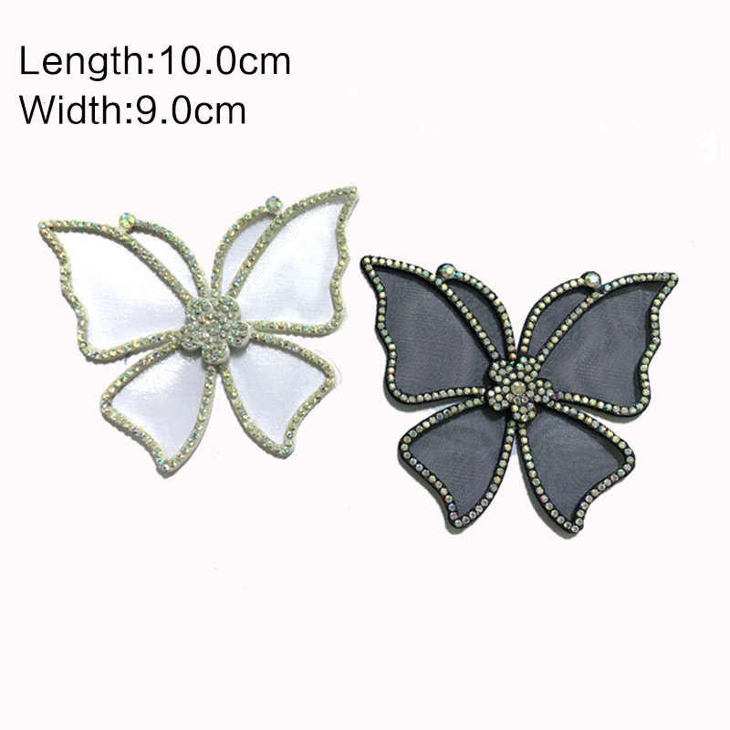 Malla para manualidades zapatos de fiesta de boda con lazo de mariposa Accesorios Para tacones altos sandalias botas decoraciones Flor de zapato ZD240