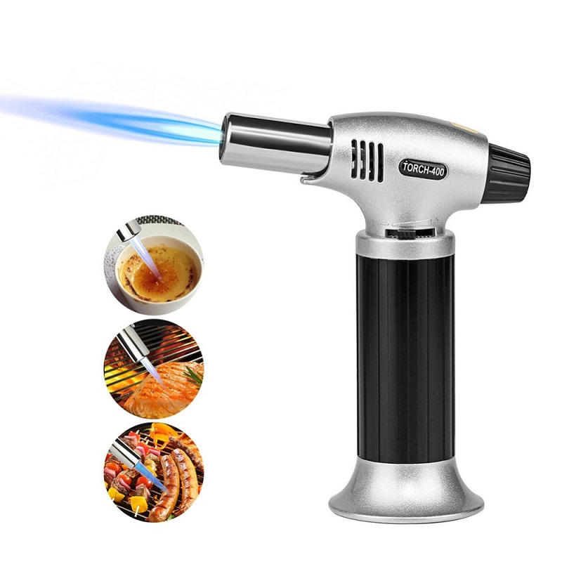 Torch Kitchen Butane Lighter Chef Cooking Torch Refillable Adjustable Flame Lighter BBQ Ignition Spray Gun Picnic