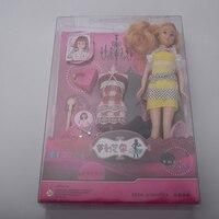 Divertente Precipitò Top vestito di vestito scarpe borsa bambola regalo individuale bjd bambola giocattolo del bambino regalo del bambino