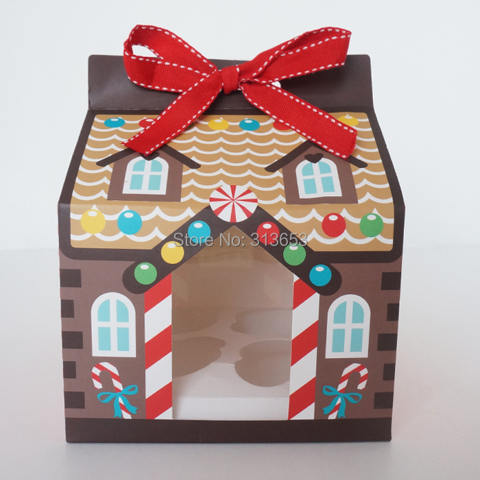 Online Shop New Arrival Christmas House Candy Box 40 Hole Cake Extraordinary Decorative Cupcake Boxes