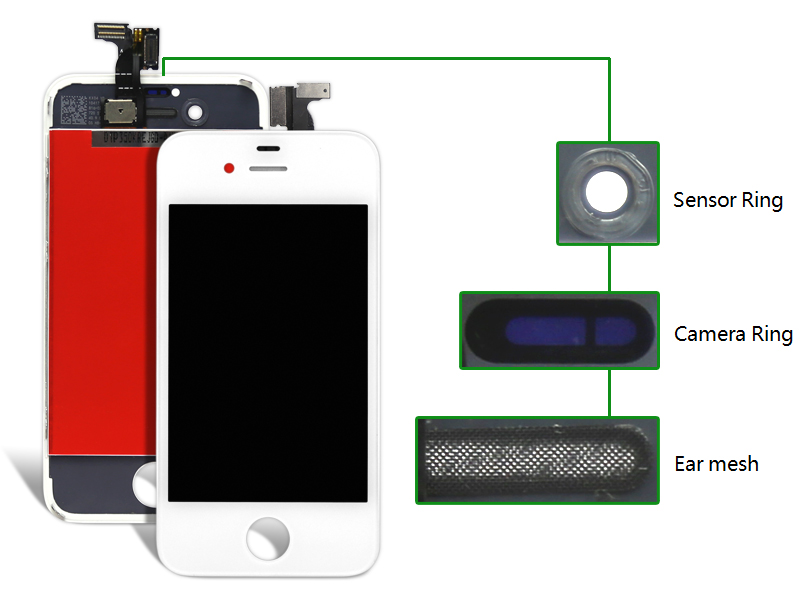 10pcs For iPhone 4S LCD Display + Touch Screen digitizer + Bezel Frame +Replacement Part Assembly  !!! lcd screen assembly for apple iphone 4 4g lcd display touch screen digitizer pantalla with frame bezel replacement black white