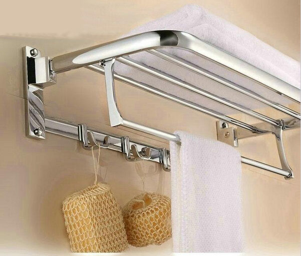 Free shipping 60cm hot stainless steel towel rack with single bar towel holder bathroom accessories cloth holder bathroom shelf free shipping 304 stainless steel towel rack bathroom rack bathroom shelf folding towel rack bathroom accessories bathroom hook