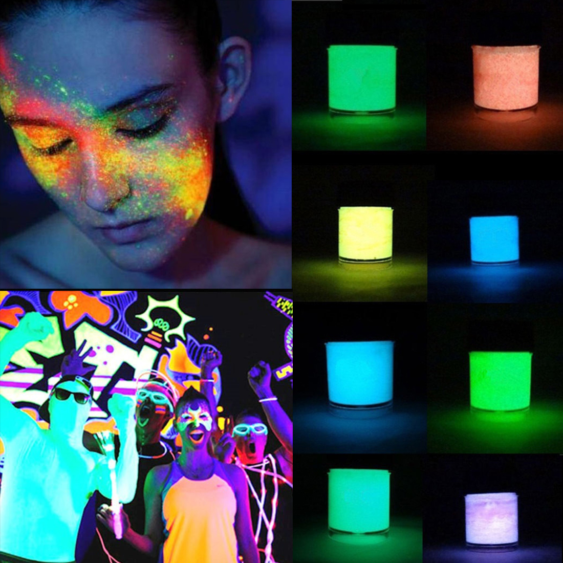 SuperDeals - 10Ml Diy Paint Luminous Pigment Glow Powder Graffiti ...