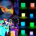 2016 Chic Fluorescente Em Pó DIY Brilhante Glow In The Sand Escuro Em Pó Da Arte Do Prego Brilho Pó Pigmento Luminosa Prego Brilho
