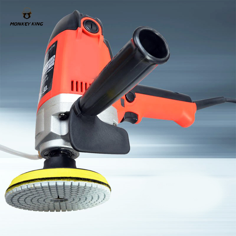900w Electric marble granite wet Stone Polisher grindeHand Grinder Water Mill Variable Speed w/ 7 Pcs Pad variable speed
