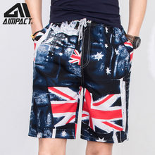 Fashion Swim Trunks for Men Summer Quick Dry Surf Beach Swimming Shorts New UK Flag Holiday Board Shorts Hybrid Shorts AM2102(China)