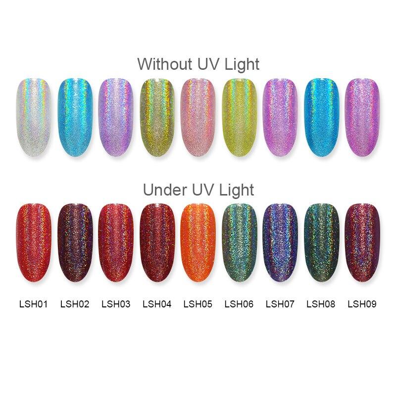 BORN PRETTY Light Sensitive graphic Nail Polish 6ml Pink Silver Shimmer Glitter Color Changing Nail Art