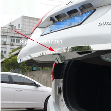 Tailgate Rear Door Bottom Cover Molding Trim Stainless Steel back door For Mitsubishi OUTLANDER 2013-2016 Car Accessories