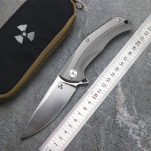 JK3215 flip folding knife ball bearing D2 blade TC4 titanium handle outdoor camping multi-purpose hunting EDC tool стоимость
