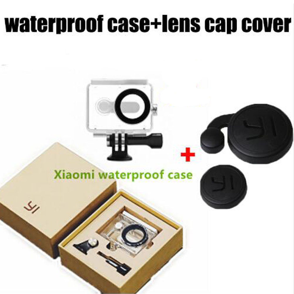 2016 New Xiaomi Yi Camera Diving Waterproof Case Housing box lens cover Xiao Mi Yi Camera