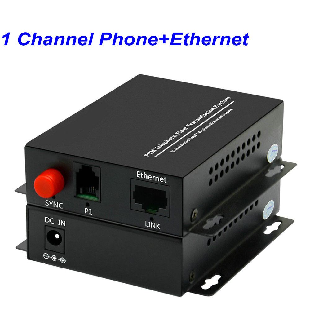 1 Pair 1 Channel -PCM Voice Tel Over Fiber Optic Multiplexer Extender With 100M Ethernet,Support Caller ID And Fax Function