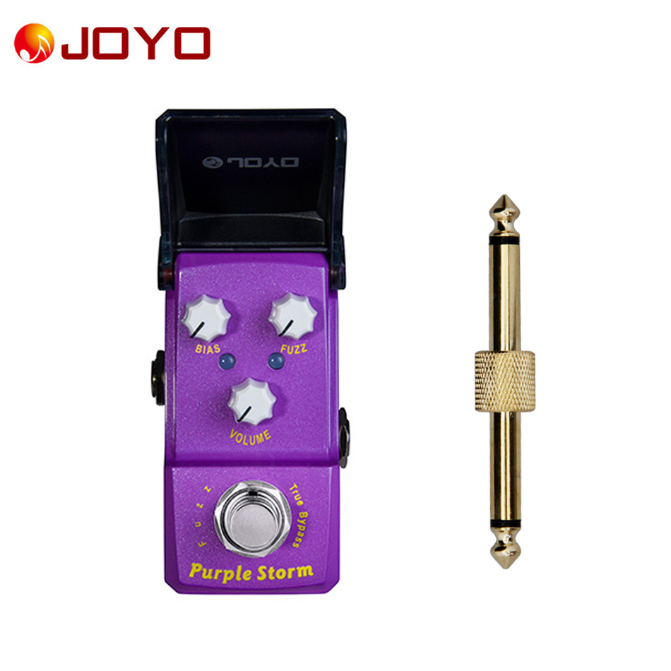 NEW Guitar effect pedal JOYO FUZZ Purple Storm Ironman series mini pedal VCA technology  JF-320 + 1 pc pedal connector new diy fuzz
