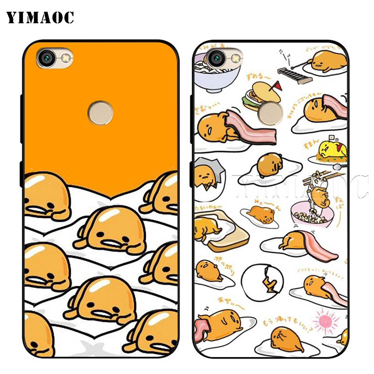 YIMAOC Gudetama leniwy jajko obudowa do xiaomi czerwony mi uwaga 4 4x 4a 5 5a 6 8 8A mi 9 10 8T Pro Plus