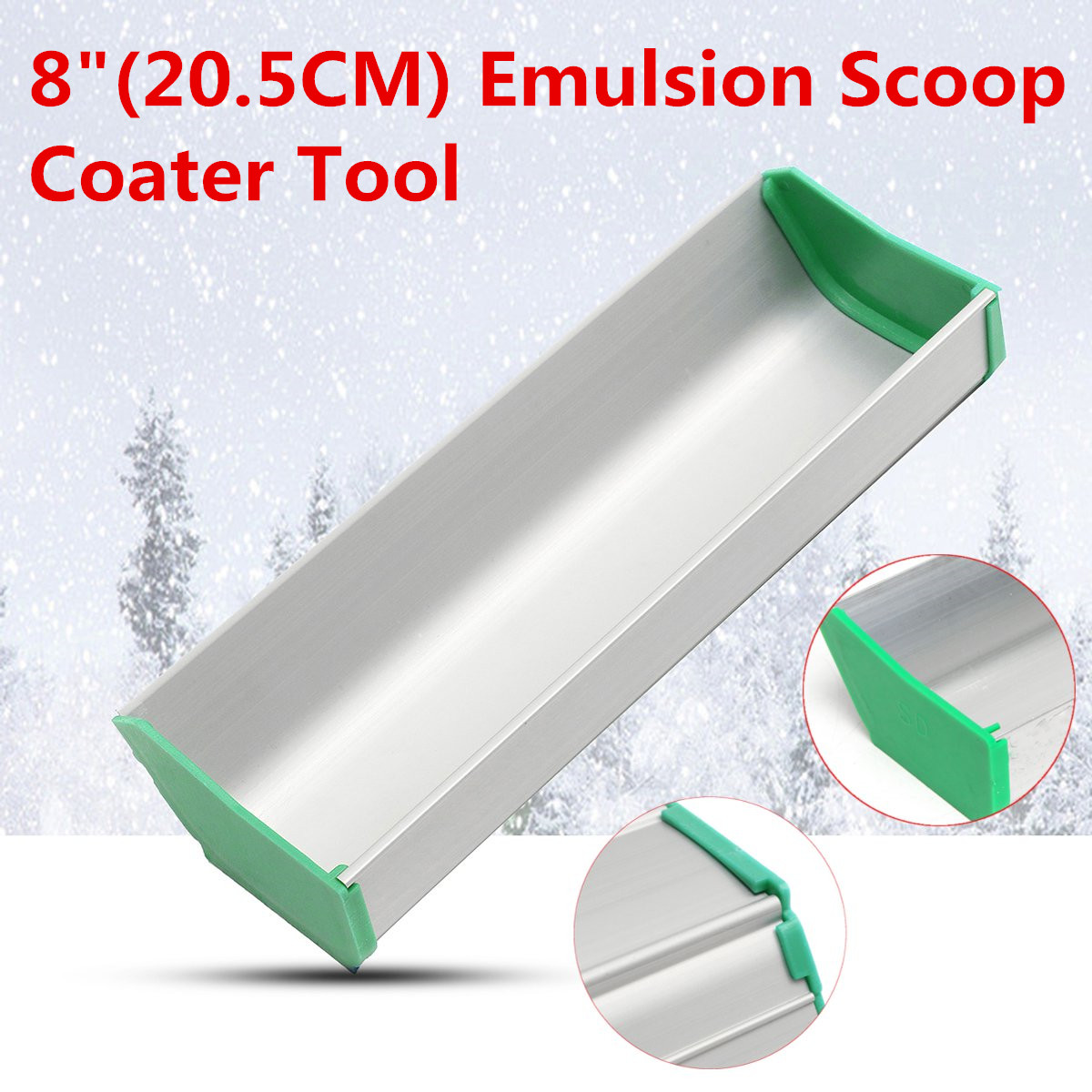 8 Inch Emulsion Scoop Coater Tool Silk Screen Printing